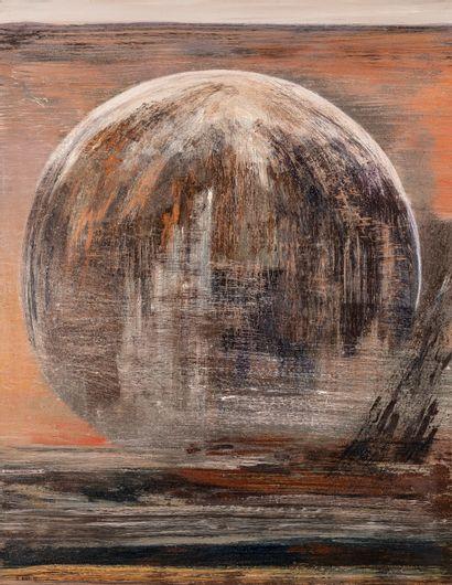 Michel BIOT (1936-2020), Terre féconde. Huile...