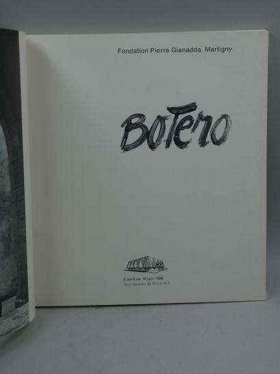 Fernando BOTERO (1932). Dessin au feutre et dédicace de l'artiste sur la page de...