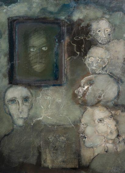 Paul RAMBIE (Né en 1919), Masques, huile...