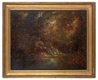 Adolphe MONTICELLI (1824-1886), entourage...