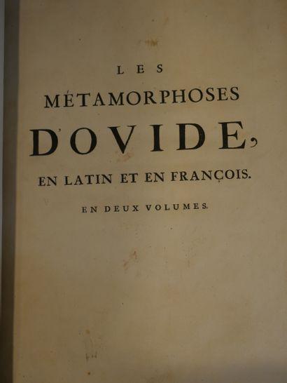 OVIDE. Les Métamorphoses, en latin et en français. Avec des remarques et des explications...