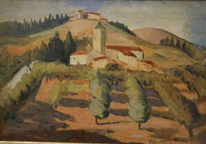 Roger Marcel LIMOUSE (1894-1989). Paysage...