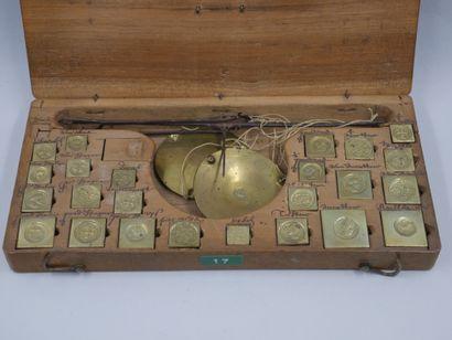 Trébuchet ou balance de changeur, XVIIè siècle....