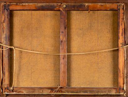 Robert PINCHON (1886-1943). Les meules. Huile sur toile. Signée en bas à droite....