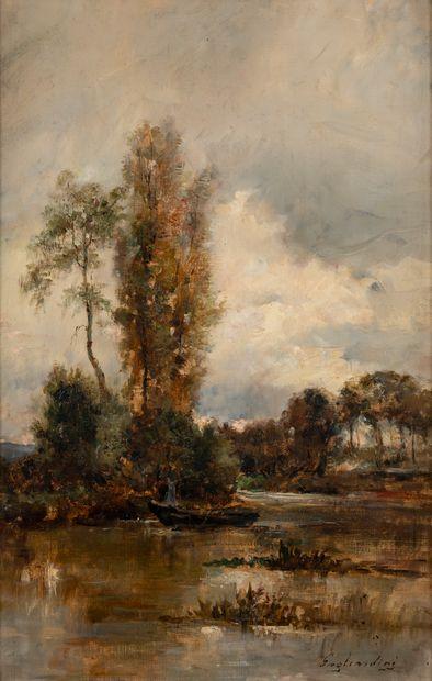 Julien Gustave GAGLIARDINI (1846-1927). Paysage...