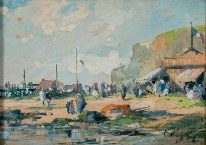 Eugène GALIEN-LALOUE (1854-1941). Camp de...