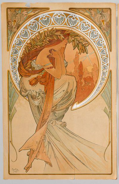 Alphonse MUCHA (1860-1939), La Poésie, 1898....