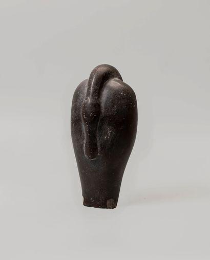Poids antique en forme de canard en pierre...