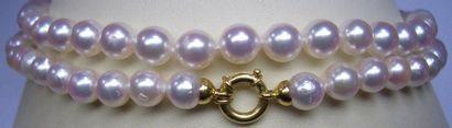 Sautoir de 99 perles de culture du Japon...