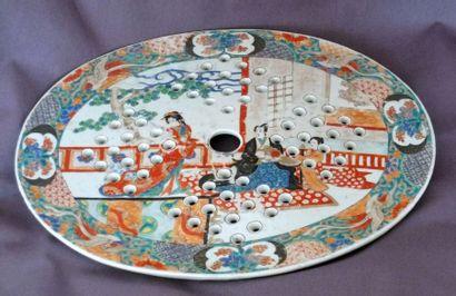 Égouttoir ovale en porcelaine imari à décor...