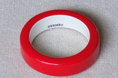 HERMES Paris Bracelet jonc en composite rouge,...