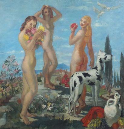 AUJAME Jean ( 1905-1965) – Les trois grâces-...
