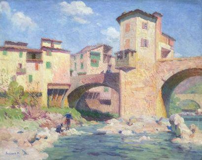 ESCHBACH Paul- 1861 1961 Le pont de Sospel...