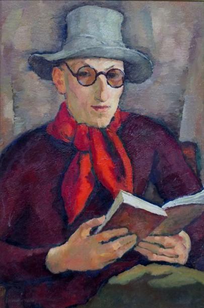 SERVAUX Clément – ( 1886-1972 ) -Autoportrait-...