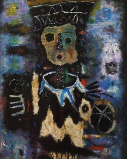 CHANCO- La poupée russe- Huile sur toile signée en bas à gauche et datée 1958 9...