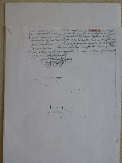 Tapisserie de la Manufacture Royale d'AUBUSSON Fin XVIIème: Esther et le roi Assuerus-...