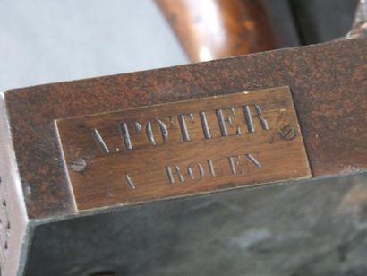 POTIER. A A.POTIER- ROUEN Statue de Diane de Gabiès en pied - Composition - Cartouche...
