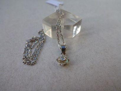 Pendentif diamant de taille ancienne 0,45ct...