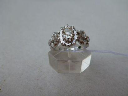 Bague ornée de diamants Taille ancienne pour...