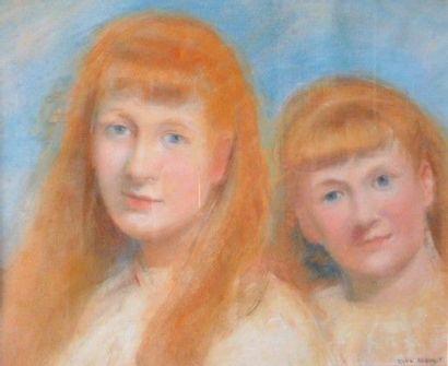 ROUX-ABOUGIT (XIX-Xxème)- Portrait double-...