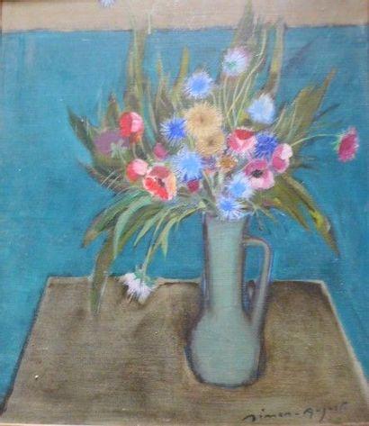 SIMON Auguste (1909-1987) Bouquet de fleurs....