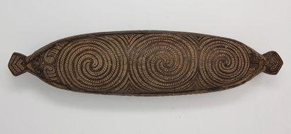 Boîte à trésors et à plumes Maori waka huia - Nouvelle Zélande Boîte à trésors et...