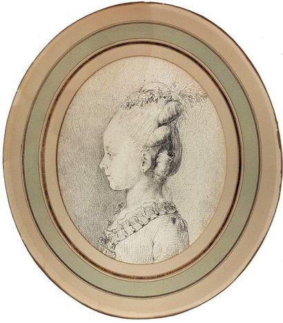 Attribué à Augustin de SAINT-AUBIN (1736-1806)