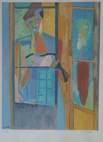 André LHOTE (1885-1962) Femme à la fenêtre. Litho 57 x 42 cm Epreuve d'artiste VIII/XXX...