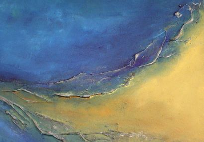 RAYNAL-DELCOL Isabelle Série « Terres de ciel » Acrylique sur toile 150 x 100 cm...