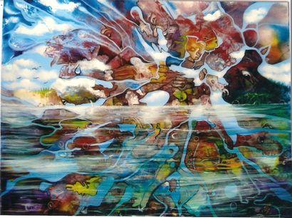 """VASA Danielle """"L'Inconscient collectif"""" Huile sur toile 92 x 73 cm signée en bas..."""