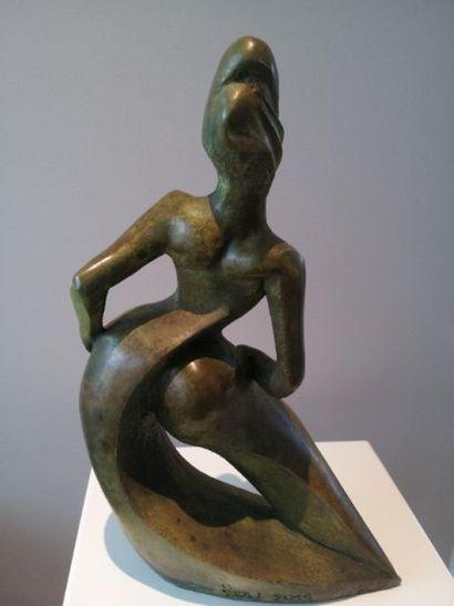 """ZOU """"Swing"""" Sculpture en Bronze Fondeur Bronze d'Airain de Tourrettes sur Loup (Alpes-Maritimes)..."""