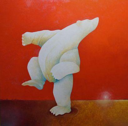 """BLIN Yves """"La dernière valse"""" Huile sur toile 100 x 100 cm signée.    Frais de transport..."""