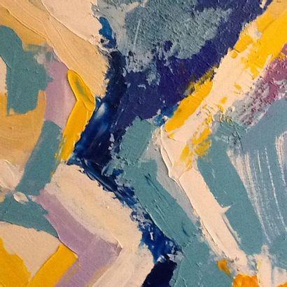 """CHARMILLE Fabienne """"La ruche"""" Acrylique et sable sur toile 100 x 80 cm signée en..."""