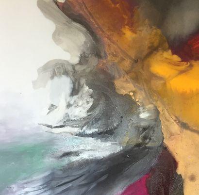 """MOCANU Steliana """"The live like a dance"""" oil on canvas 80 x 80 cm signed.    Free..."""