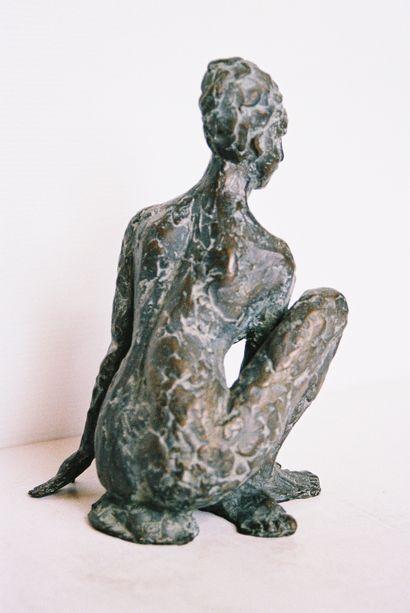 "MOLINIE-JONQUET Chantal ""Impertinent"" Sculpture in patinated bronze 1/8 H : 12 cm..."