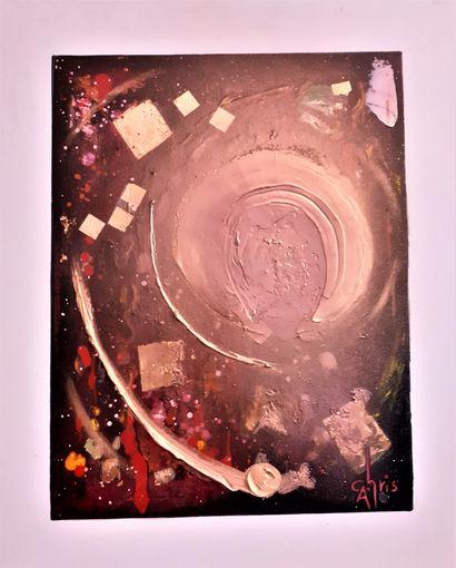 """CHRIS """"Enzo Zen N°43"""" Peinture à l'huile à l'acrylique à l'encre de Chine à la brosse..."""