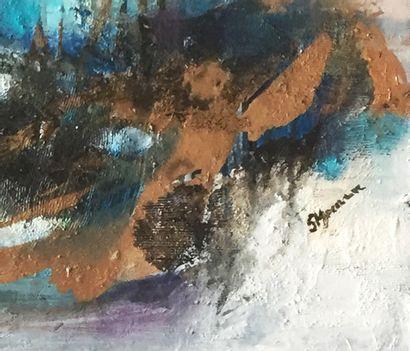 "MOCANU Steliana ""Contemplation"" Huile sur toile 40 x 80 cm signée.    Frais de transport..."