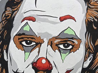 """MATTO Rémy """"Joker"""" Acrylique sur toile 60 x 60 cm signée.    Frais de transport offerts..."""