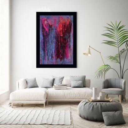 "OLIVERIO Emilia ""Exquisite"" Collection ""Passione"" Acrylic on canvas 116 x 89 cm signed...."