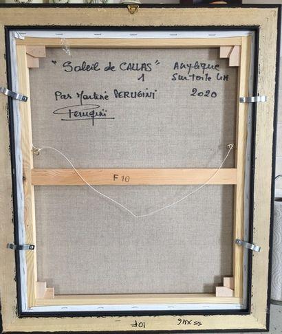 "PERUGINI Martine ""Sun of Callas 1 "" Acrylic painting on linen canvas 46x55 unframed,..."