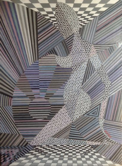 """GIRONDÉ Marie """"Fifty shades of grey""""  Oil on canvas 73 x 54 cm signed.    Free shipping..."""
