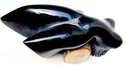 "SAVA Marian ""Abandonada"" Belgian black marble from 2006 20 x 51 x 21 cm Direct size..."