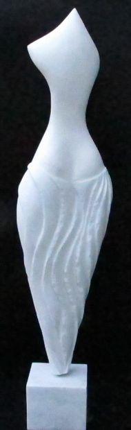 """SAVA Marian """"Irini"""" Marbre blanc de 2012 90 x 22 x 8 cm Taille directe signé.    Frais..."""