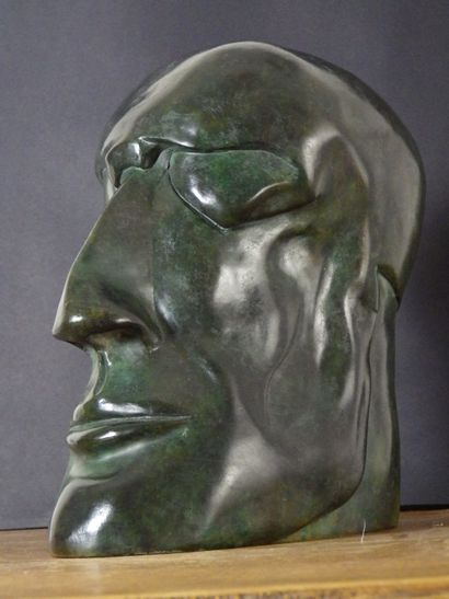 "MAUZAT Marc ""Baon"" Sculpture in patinated bronze H : 24 cm L : 12 cm W : 20 cm Width..."