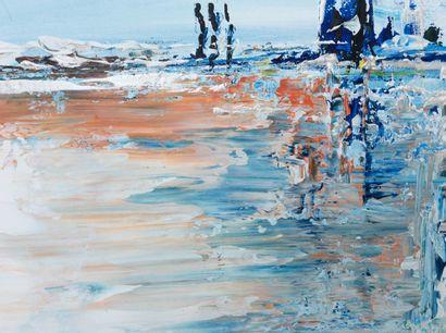 """MARTINETTO Laure """"Fantasia"""" Acrylique sur toile 100 x 65 cm signée.    Frais de transport..."""
