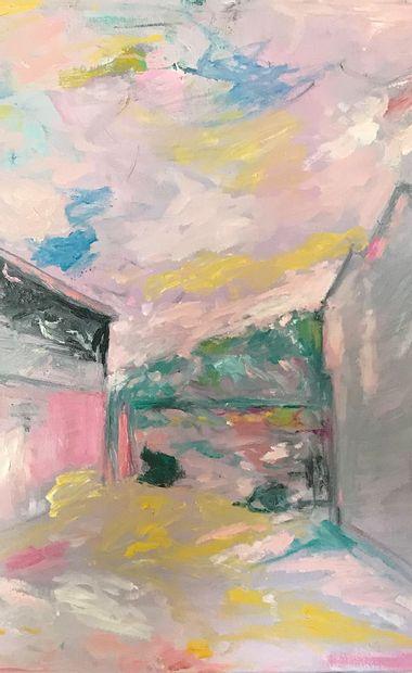 """LABOR Robert """"Vue sur les Makes"""" Huile sur toile 60 x 80 cm de 2012 signée.    Frais..."""