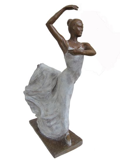 """CANTIN Josiane """"Sofia"""" Bronze réalisé à la cire perdue Fondeur d'Art de Blain H :..."""