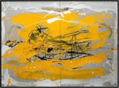 """BEZANCON Guy """" Voiliers baignés de soleil """" Technique mixte 164 x 122 cm signée en..."""