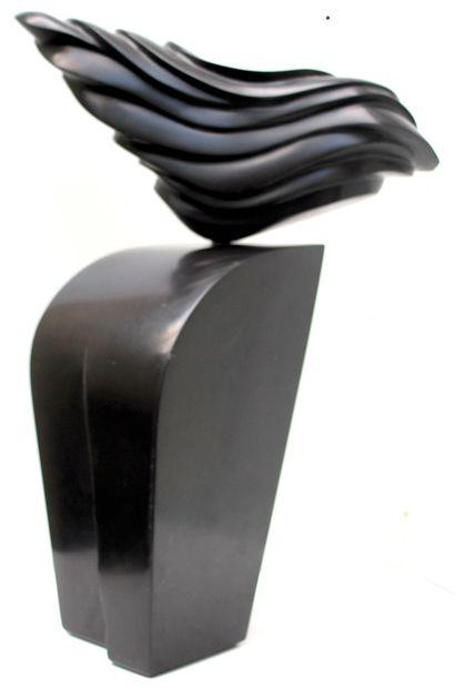 """SAVA Marian """"Amapola"""" Marbre noir belge de 2009 56 x 17 x 18 cm taille directe pièce..."""