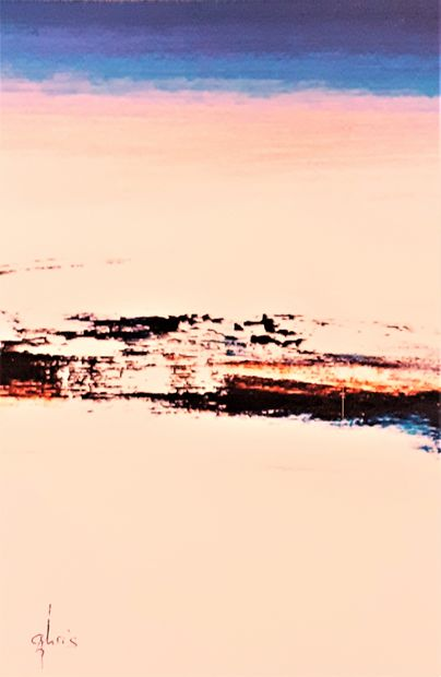 """CHRIS """"Au Coeur du Silence N° 18"""" PeintureHuile et Acrylique réalisée au couteau..."""